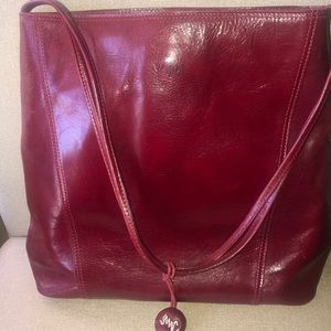 ❤️MONSAC ORIGINAL SHOUDLER BAG PURSE RED LEATHER❤️